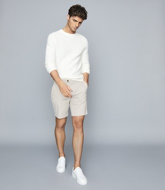 Reiss Wicket - Casual Chino Shorts in Chalk
