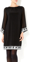Wallis Black Aztec Embellished Dress