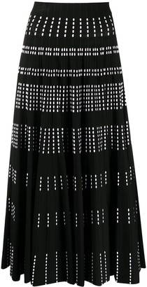 Antonino Valenti high-rise pleated A-line skirt