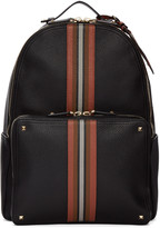 Valentino Black Rockstud Striped Backpack