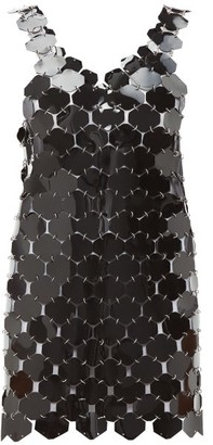 Paco Rabanne Chainmail Hexagonal-sequin Mini Dress - Womens - Black