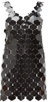 Paco Rabanne Chainmail Hexagonal Sequin Mini Dress - Womens - Black