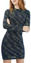 Topshop Women's Lightning Pattern Metallic Body-Con Dress