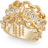 Thalia Sodi Gold-Tone Crystal Chain Statement Ring, Only at Macy's