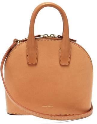 Mansur Gavriel Mini Top Handle Leather Bag - Womens - Brown Multi