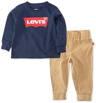 Levi's Toddler Boy Levis 2-Piece Batwing Long Sleeve T-Shirt and Jogger Pants Set
