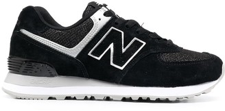 New Balance Logo Patch Suede Trainers