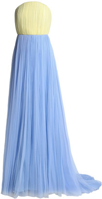 DELPOZO Strapless Two-tone Tulle Gown