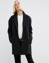 Fitted Black Coat - ShopStyle