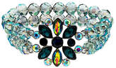 Monet AB Bead and Glass Crystal Stretch Bracelet, Multi