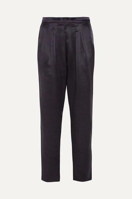 Eres Ready Leopard-print Silk-satin Pajama Pants - Black