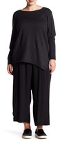 Eileen Fisher Silk Wide Leg Ankle Pant (Plus Size)