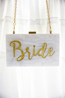 Shiraleah Bride Resin Hard Clutch Whtm 1 Size