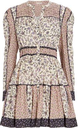 Ulla Johnson Luise Floral Printed Mini Dress