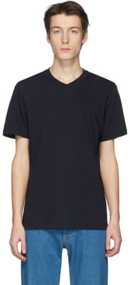 Jil Sander Navy V-Neck T-Shirt