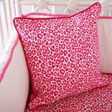 Caden Lane Girly Pink Leopard Square Throw Pillow