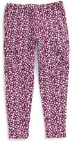 Tea Collection Toddler Girl's Ditsy French Terry Cargo Pants