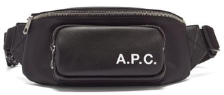 A.P.C. Camden Faux-leather And Canvas Belt Bag - Black