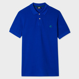 Paul Smith Men's Indigo Embroidered PS Logo Organic-Cotton Polo Shirt
