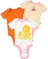 "Disney Baby girl Cuddly Bodysuit Winnie the Pooh ""Hundred Acre Wood"" 3 Pack"