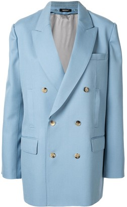 Undercover Contrast Double-Breasted Blazer