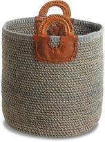 Nkuku Indra Coil Basket Blue Large