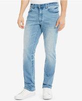 Kenneth Cole Reaction Men's Straight-Fit Light Indigo Wash Jeans