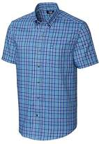 Cutter & Buck Men's Medium Plaid Easy Care Button Down Short Sleeve Shirts