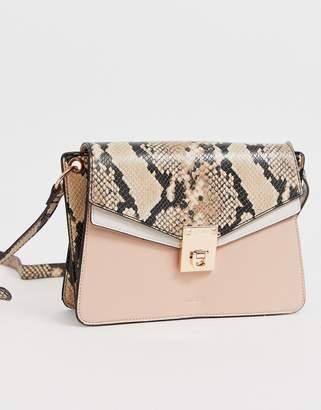 Aldo Kairen snake crossbody bag in blush-Pink