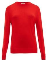 Jil Sander Round-neck Wool Sweater - Womens - Red