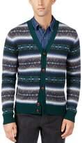 Tommy Hilfiger Mens Wool Pattern Cardigan Sweater Green XXL