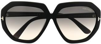 Tom Ford Pippa oversized-frame sunglasses-