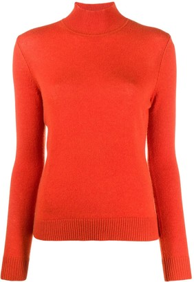 Theory Ribbed Turtle Neck Jumper