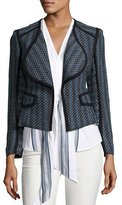 Derek Lam 10 Crosby Striped Open-Front Cardigan Jacket, Denim