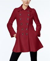 Via Spiga Double-Breasted Flared Swing Coat