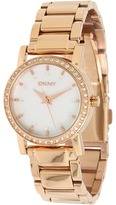 DKNY Women's NY8121 Stainless-Steel Quartz Watch (Rose Gold Band/Silver Face) - Jewelry