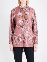 Alberta Ferretti Classic floral silk-twill shirt