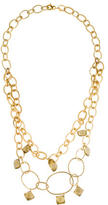 Alexis Bittar Green Quartz Station Double Chain Necklace