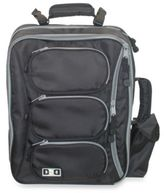Diaper Dude Convertible Messenger Backpack in Black