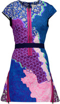 Peter Pilotto Apex zip-embellished printed cotton-blend mini dress