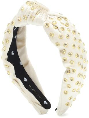 Lele Sadoughi Embellished velvet headband