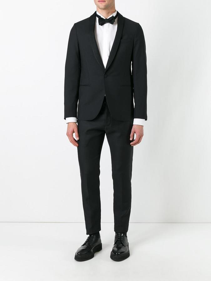Lanvin one button tuxedo jacket