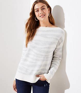 LOFT Petite Tiger Striped Sweater