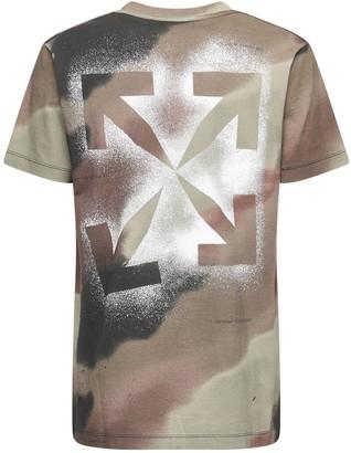 Off-White Camo Print Slim Cotton Jersey T-shirt