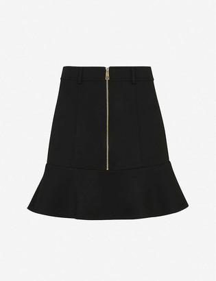 Whistles Peplum high-waist stretch-woven mini skirt