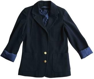 Les Prairies de Paris Black Wool Jacket for Women