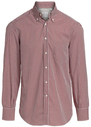 Brunello Cucinelli Gingham Check Button-Down Shirt