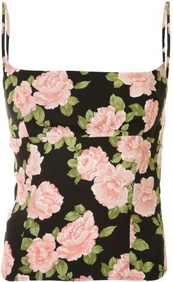 Reformation Grace floral-print cami top