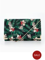 Very Tropical Print Clutch