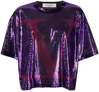 Valentino VLOGO Sequin T-Shirtc